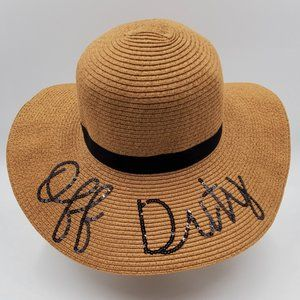 Sequin Script 'Off Duty' Straw Hat